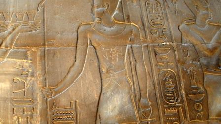 """""""Ding Jinhao visited here"""" written by a Chinese kid on the wall of  3,500-year-old Luxor temple in Egypt"""