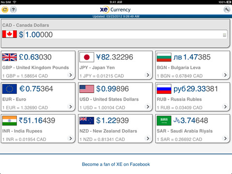 XE Currency for iPad
